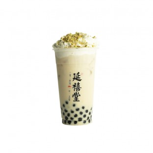 乾隆浣纱绿 Salted Caramel Jasmine Pearl Milk Tea w Cashew Nut